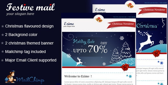 Festive mail Email Template - Email Templates Marketing