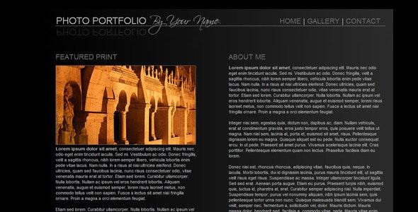 Sleek Portfolio - Photo Gallery Personal