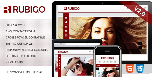Rubigo Responsive HTML Template - Creative Site Templates