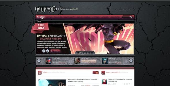 Gamezilla - Video Game News PSD Template