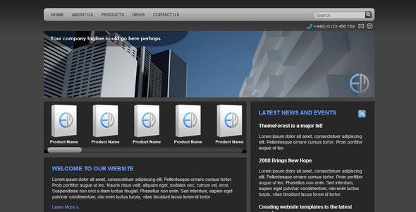 Pure Graphite Corporate - Corporate Site Templates