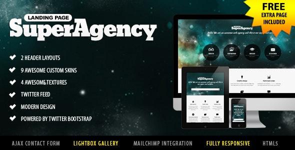 Super Agency - Responsive Landing Page - Portfolio Creative