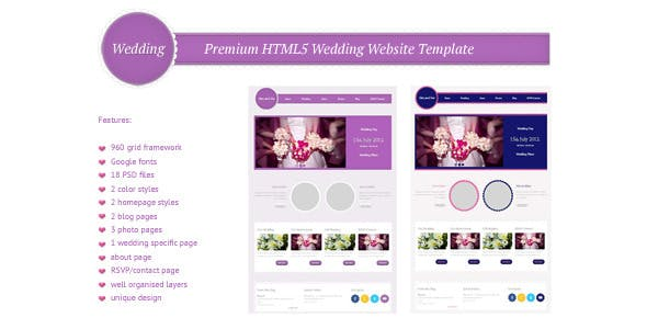 Circle Hover Effects Website Templates from ThemeForest