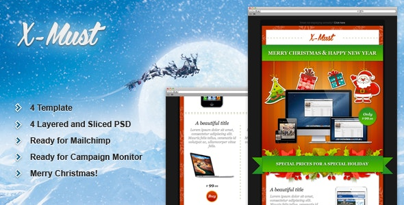 X-Must - Christmas E-Mail Templates - Email Templates Marketing