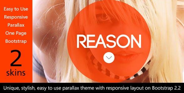 Reason - HTML5 Responsive Parallax on Bootstrap