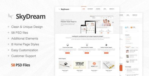 SkyDream - Premium PSD Template - Corporate Photoshop