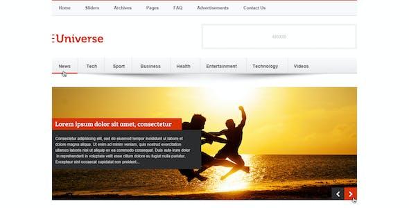 Universe - Premium News and Magazine PSD Template