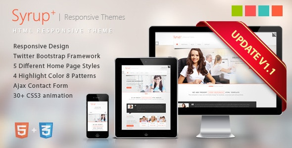 Syrup Responsive HTML Theme - Corporate Site Templates