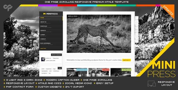 MiniPress - Responsive One Page Template - Portfolio Creative