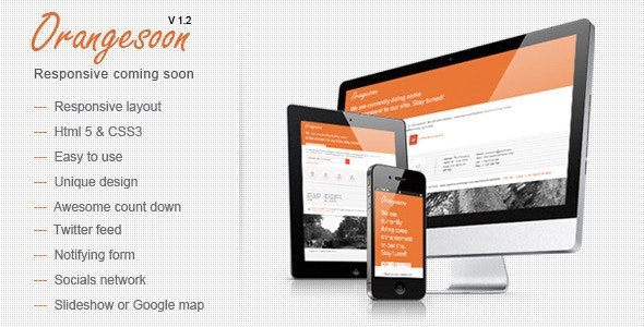 Orange - Comingsoon Template - Under Construction Specialty Pages
