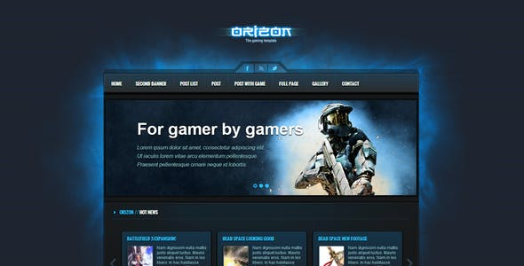 Gaming Html Website Templates From Themeforest