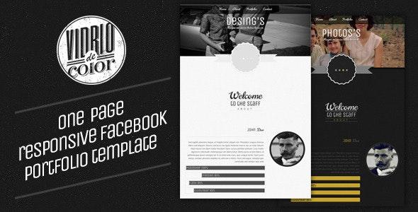 Vidro De Color - Responsive Facebook Template - Creative Site Templates