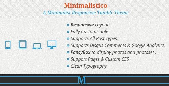 Minimalistico - ResponsiveTumblr Theme - Blog Tumblr