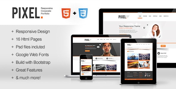 Pixel - Responsive Bootstrap HTML5 - Corporate Site Templates