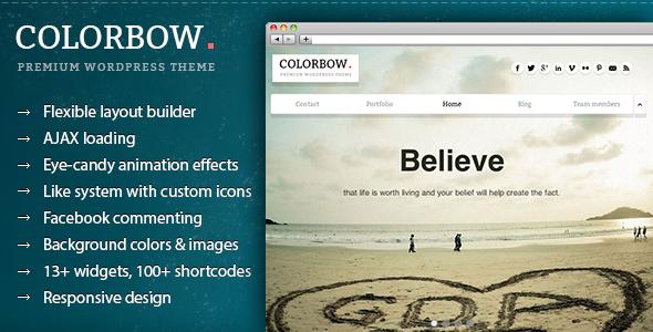 Colorbow - A Onepage Creative Portfolio Theme - Creative WordPress
