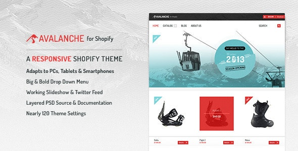 Avalanche for Shopify — Responsive Premium Theme - Shopify eCommerce