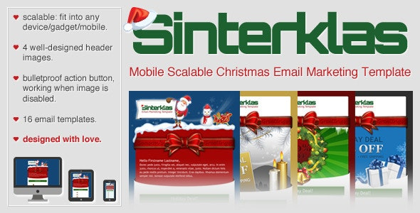 Sinterklas - Christmas Mobile Scalable HTML Email - Email Templates Marketing