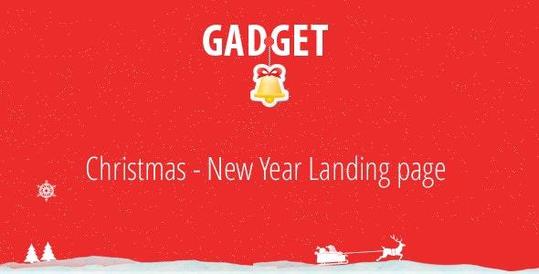 Gadget - Christmas - New Year Landing Page - Shopping Retail