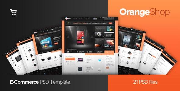Orange - eCommerce Multipurpose PSD Template - Shopping Retail