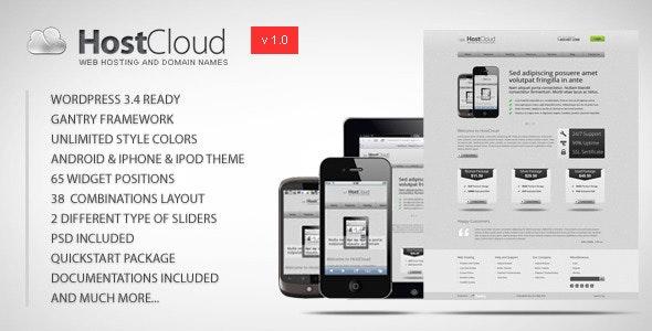 HostCloud - Premium WordPress Theme - Hosting Technology