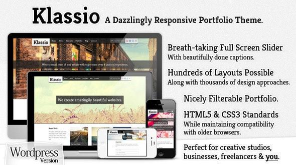 Klassio - Responsive Wordpress Business Portfolio - Creative WordPress