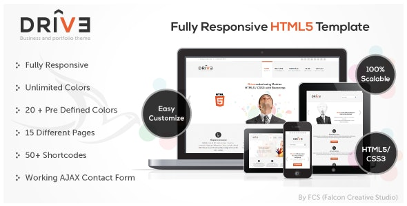 Drive - Responsive Corporate Template - Corporate Site Templates