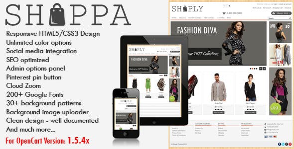 Shoppa - Multi-Purpose OpenCart Theme