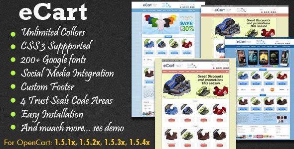 eCart - Premium OpenCart Theme - Miscellaneous OpenCart