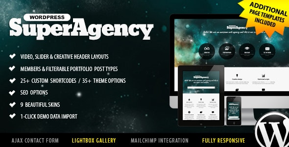 Super Agency - Responsive WordPress Single Page - Portfolio Creative