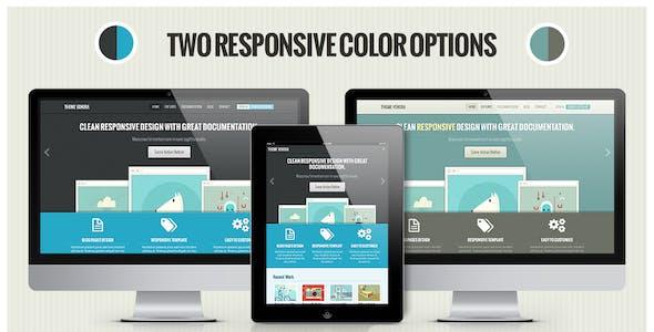 Venera - Responsive HTML Template - Retro colors