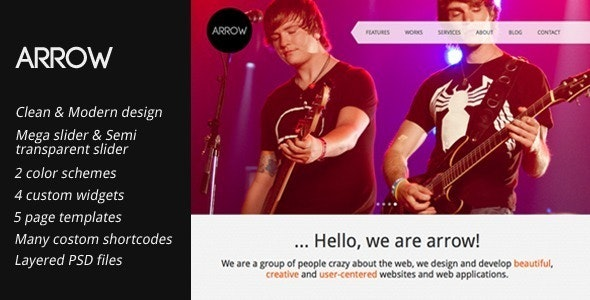 Arrow: Creative Portfolio WordPress Template - Portfolio Creative