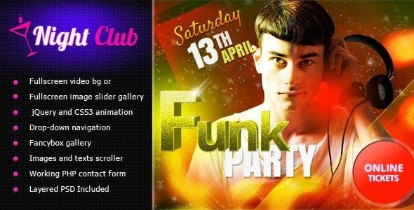 Night club -  Fullscreen Video & Image Background - Nightlife Entertainment