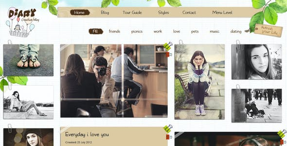 Diary - Responsive Blog HTML Theme