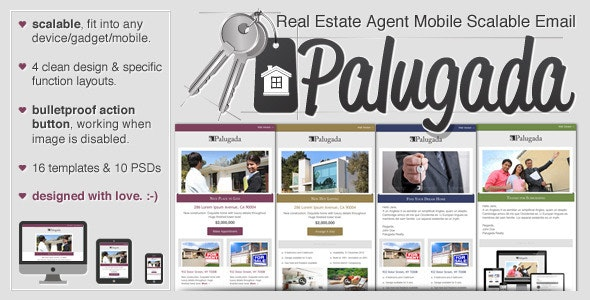 Palugada - Real Estate Agent Mobile Scalable Email - Email Templates Marketing