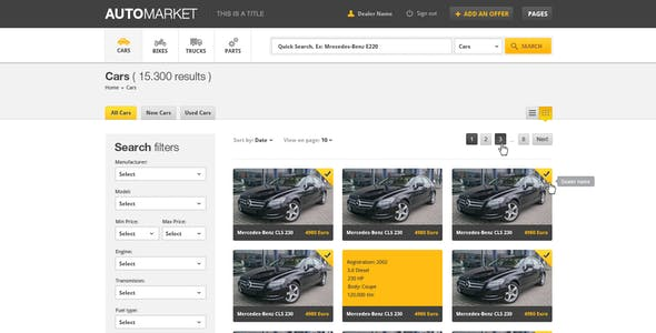 AutoMarket - HTML Vehicle Marketplace Template