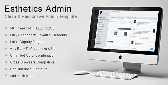 Esthetics Admin-Clean Admin Template - Admin Templates Site Templates