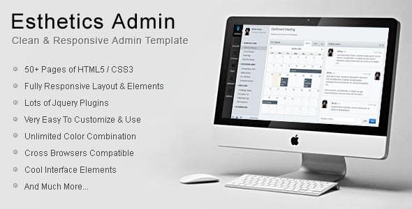 Esthetics Admin-Clean Admin Template