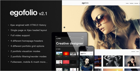 Egofolio: History Ajaxed Reponsive Wordpress Theme - Portfolio Creative