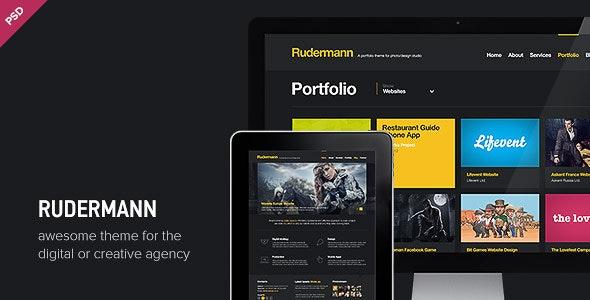 Rudermann - Agency / Business PSD Template - Creative Photoshop