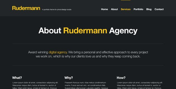 Rudermann - Agency / Business PSD Template