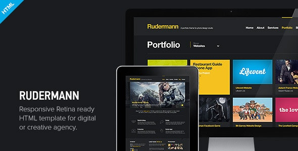 Rudermann - Responsive Retina Ready HTML Template - Creative Site Templates