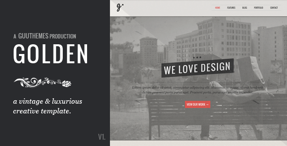 GOLDEN - Responsive Vintage HTML5/CSS Template - Creative Site Templates
