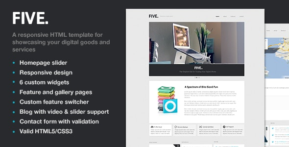 Five - Responsive HTML Template - Creative Site Templates