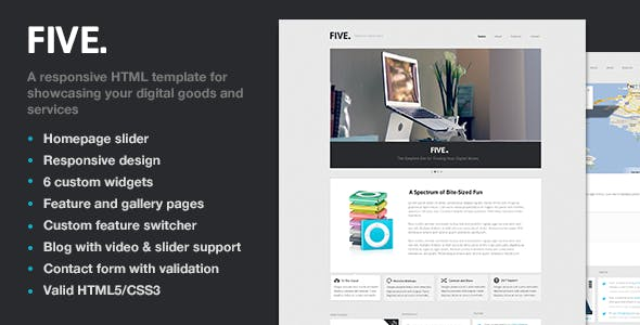 Five - Responsive HTML Template