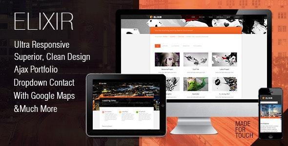 Elixir superior CSS 3 animated HTML theme - Creative Site Templates