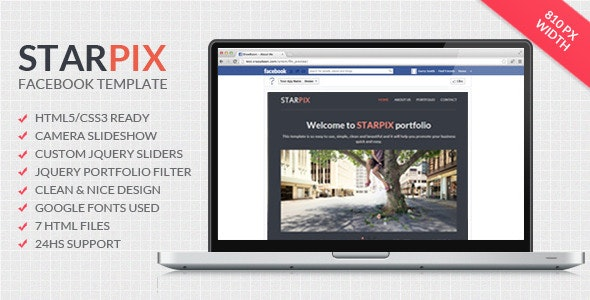 Starpix - Multipurpose Facebook Template - Miscellaneous Specialty Pages