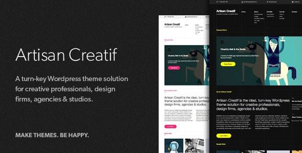 Artisan Creatif – A WordPress Portfolio Theme - Portfolio Creative