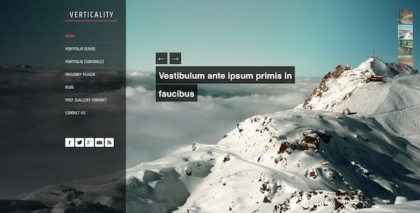 Verticality - Onepage Photography Theme