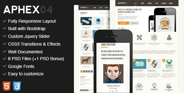 Aphex04 - Premium HTML5 / CSS3 Template - Portfolio Creative