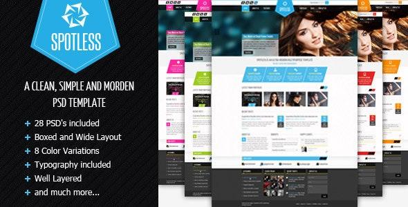 SPOTLESS - Clean & Simple Premium PSD Template - Portfolio Creative